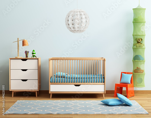 Fotografía  Baby's room with red chair