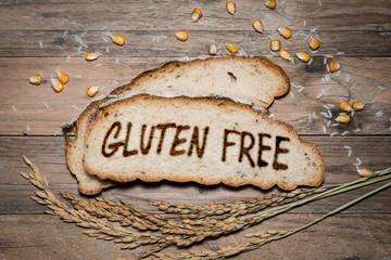 FototapetaGluten free logo grilled on bread