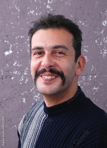 Photo  Mustache man. Movember concept