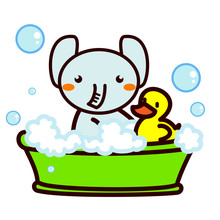 お風呂に入る動物シリーズ