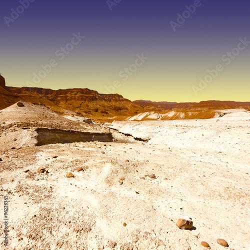 Fotobehang Zwavel geel Desert in Israel