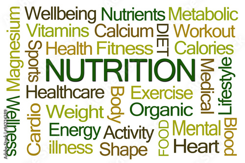 Fotografie, Obraz  Nutrition Word Cloud