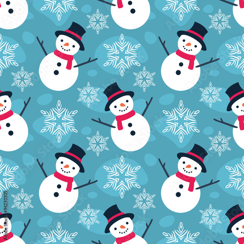 Cotton fabric Christmas Seamless Vector Pattern 10