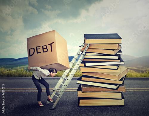 Fotografía  Student loan debt concept