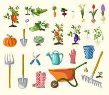 Vector Gardening Set