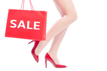 Sale Concept For Sexy Woman Shoes