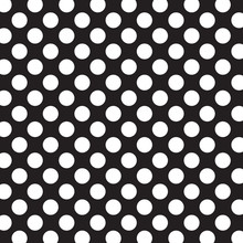 Polka Dots Background With White Dots And Black Background