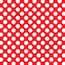 Polka Dots Background With White Dots And Red Background