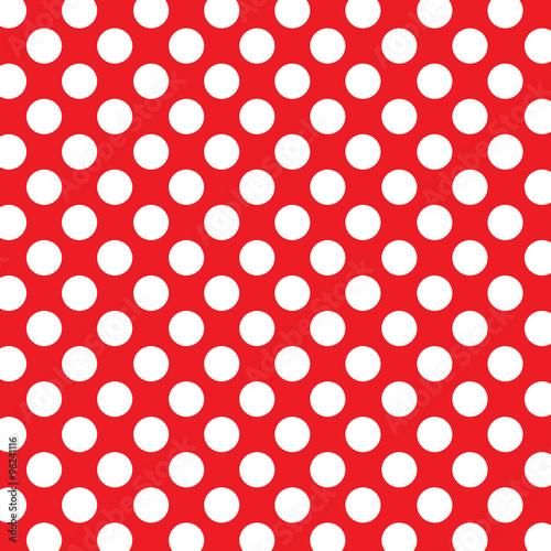 Zdjęcie XXL Tło kropki z białymi kropkami i czerwonym tle