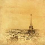 Rocznika wizerunek wieża eifla, Paryż, Francja - 96245724