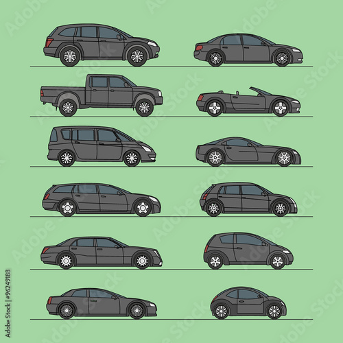 car vector set icon
