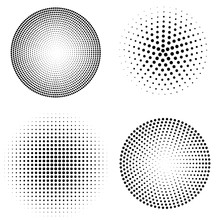 Set Of Halftone Spheres. Vecto...