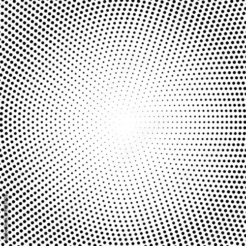 Fotografie, Obraz  Vector halftone dots. Black dots on white background.