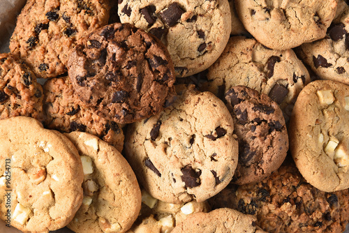 Foto op Plexiglas Dessert Assorted Cookie Closeup