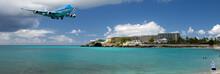 Landing At Sint Maarten Airport