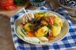Vegan version of Uzbek vegetable stew - dimlama