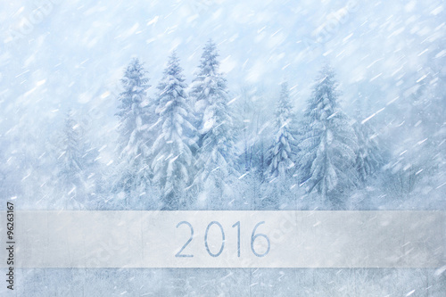 magical winter forest scene with lovely snowfall beautiful heavy snowfall forest landscape new year and