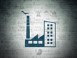 Manufacuring concept: Industry Building on Digital Paper background