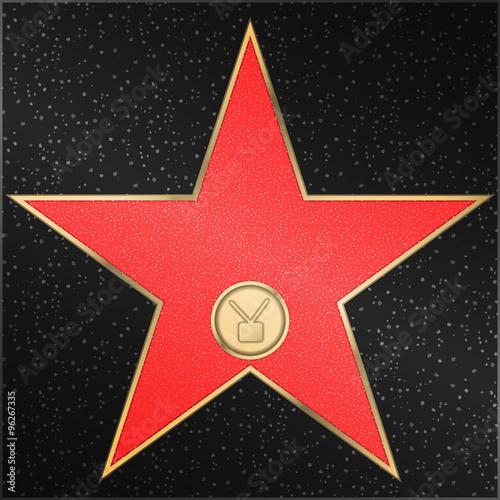 Photo  Star, television, receiver, vector