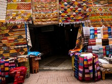 Store Of A Carpet Seller In Morocco