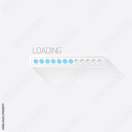 Fotografía  vector flat white modern design progress bar