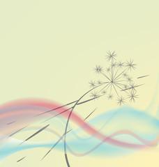 fototapeta delikatne abstrakcyjne tło z dmuchawcem