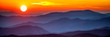 Leinwandbild Motiv Smoky mountain sunset