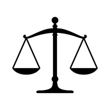Scales Of Justice Flat Icon Fo...