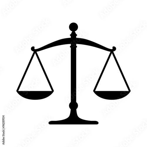 Scales of justice flat icon for apps and websites Wall mural