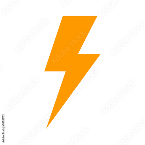 Fotografie, Obraz  Lightning bolt expertise flat icon for apps and websites