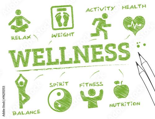 wellness- info graphic Tablou Canvas