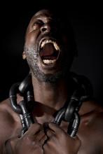 Bare Chested Black Man, Scream...