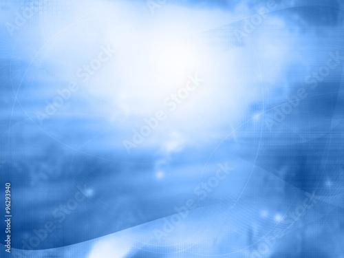 Fototapeta light abstract Cool waves background obraz na płótnie