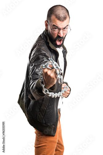 Pimp man with chains Canvas Print