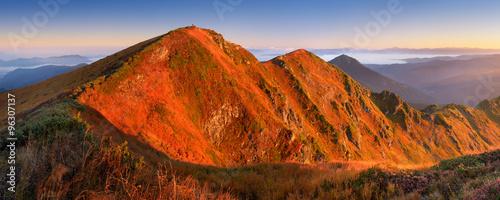 Panorama morning mountains #96307137