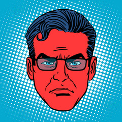 Retro devil Emoji emotion face man