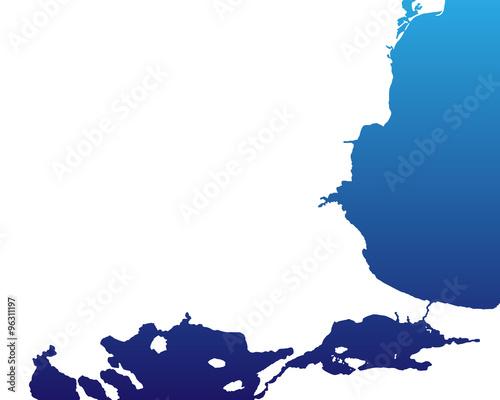 Karte Bulgarien.Bulgarien Karte Blau Buy This Stock Vector And Explore