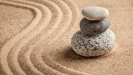 Fototapeta na wymiar Japanese Zen stone garden