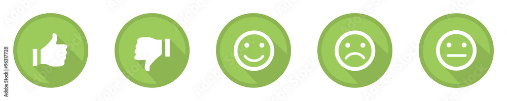 Fototapety, obrazy: green business feedback top icons