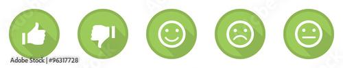 Fotografie, Obraz  green business feedback top icons