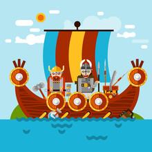 Viking Boat Background