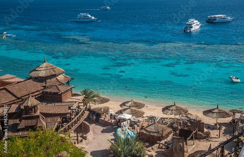 Poster Egypte Red Sea coastline in Sharm El Sheikh, Egypt, Sinai