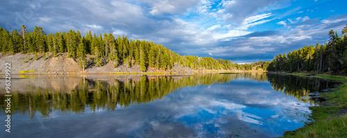 Printed kitchen splashbacks River Reflection at Yellowstone National Park