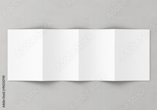 Din A5 gefalten Broschüre weiß Vorlage Canvas Print