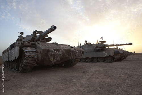 Merkava Mk 4 Baz Main Battle Tank Canvas Print