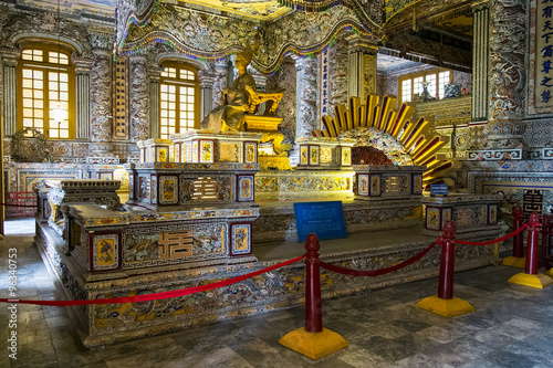 Royal Grave in Imperial Khai Dinh Tomb in Hue,  Vietnam Canvas Print