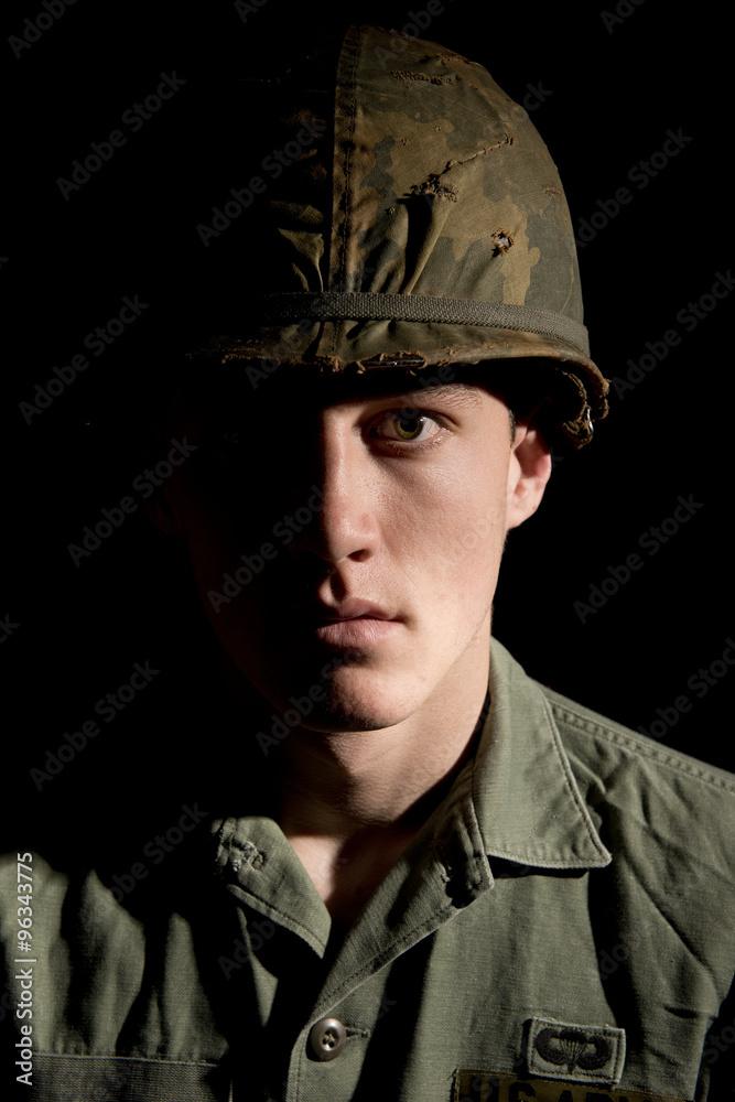 Amerikanischer GI / Soldat aus dem Vietnamkrieg. Poster, Plakat | 3+ ...