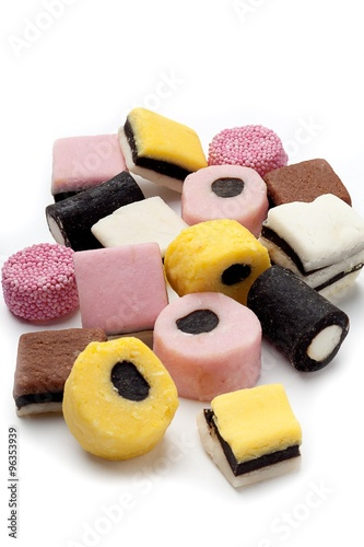 Poster Confiserie assorted licorice candies