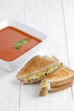 Creamy Tomato Soup And Sandwich