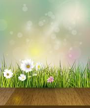 Vector Illustration Green Gras...